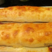 baked rolled calzone