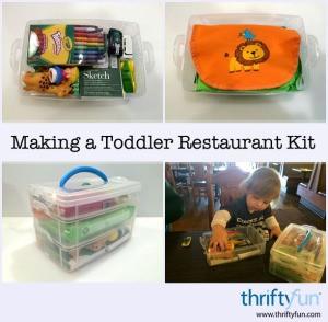 Toddler Restaurant Kit