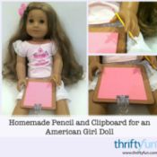 American Girl Pencil and Clipboard