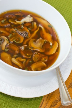 broth based mushroom soup