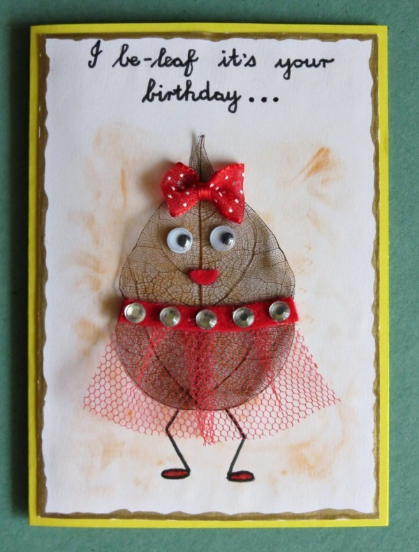 I Be Leaf It S Your Birthday Card Thriftyfun