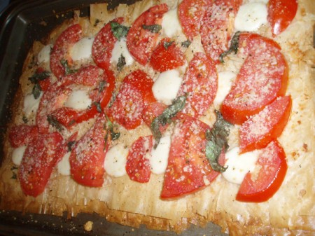 baked pizza