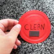 """""""clean"""" dishwasher magnet"""
