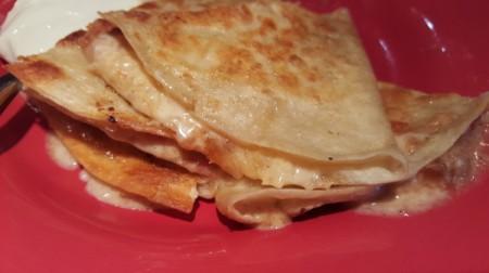 finished quesadilla