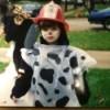 child wearing costume