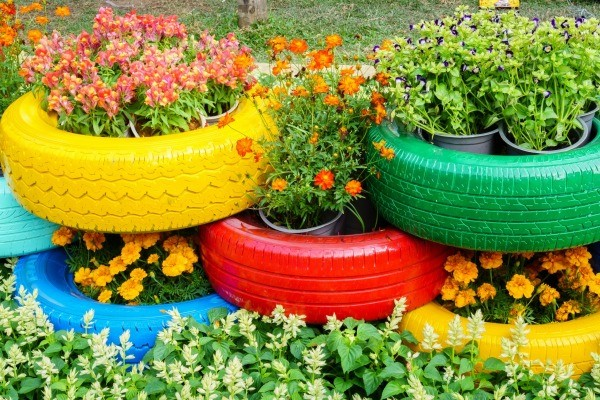 Reusing tires in the garden thriftyfun for How to use old tires in a garden