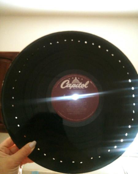 Vinyl Record Earrings Display