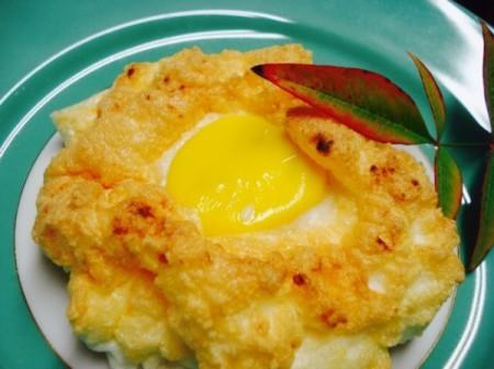 egg cloud on plate