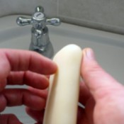 scraping soap under nails