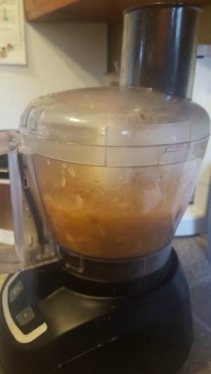 applesauce in food processor