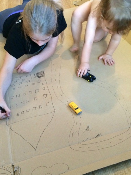Cardboard Vehicle Play Mat