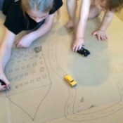 Cardboard Vehicle Play Mat