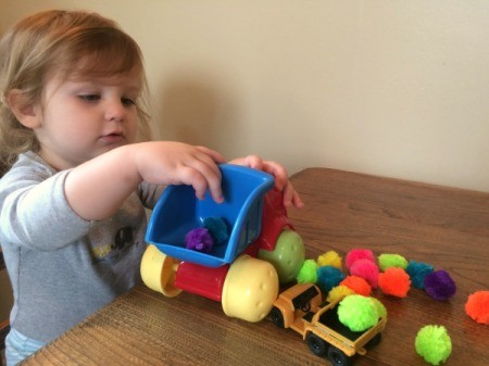 Pom Poms for Toddler Play