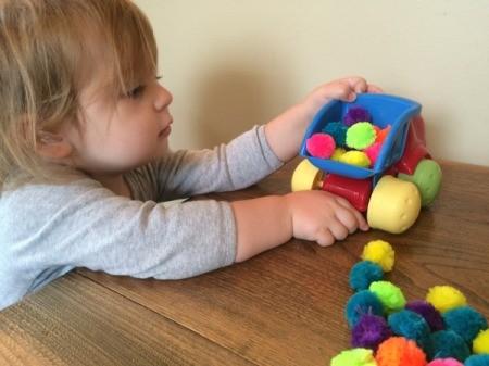 Pom Poms for Toddler Play