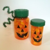 Pill Bottle Pumpkins
