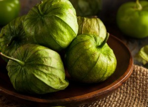 bowl of tomatillos