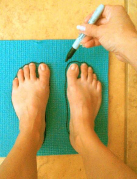 DIY Yoga Mat Insoles