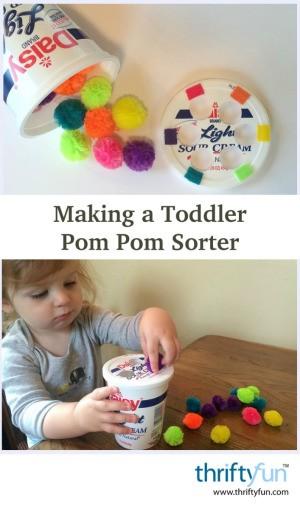 Toddler Pom Pom Sorter