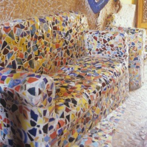 brightly colored confetti look sofa