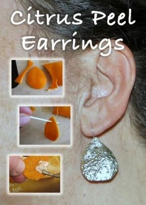 Making Citrus Peel Earrings