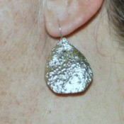 Making Citrus Peel Earrings