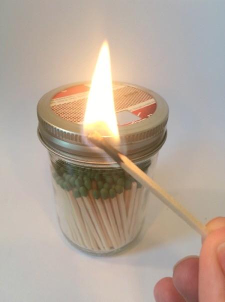 Mason Jar Match Dispenser