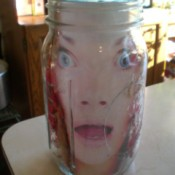 Head in a Jar Halloween Decoration