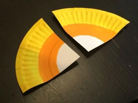 Paper Plate Candy Corn Garland