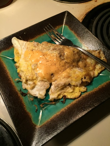 omelet on plate