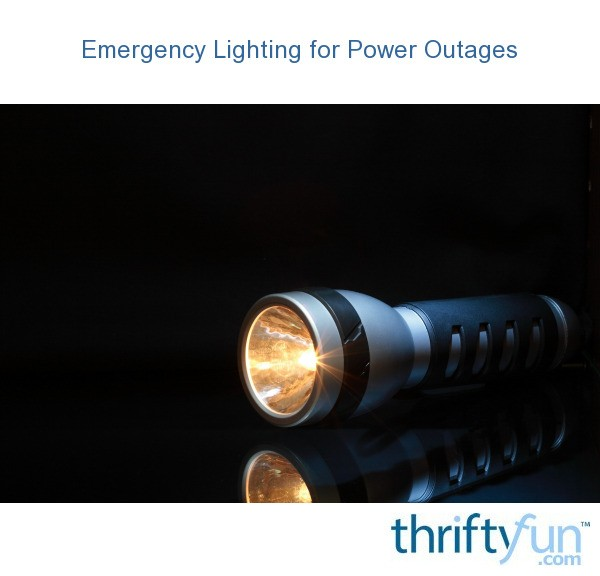 Emergency Lighting for Power Outages | ThriftyFun