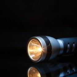flashlight in the dark
