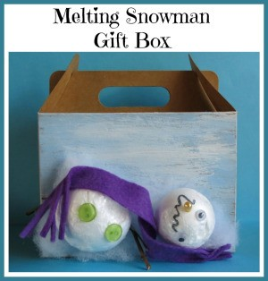 Melting Snowman Gift Box