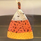 Making a Candy Corn Pot Holder