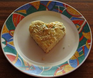 heart shaped scone
