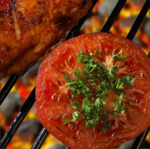 tomatoes on a grill