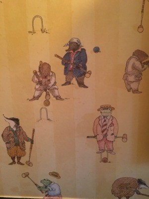 Wind in the Willows characters playing croquet
