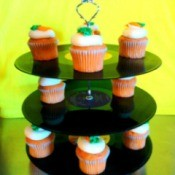 server with cupcakes