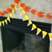 Paper Plate Candy Corn Garland