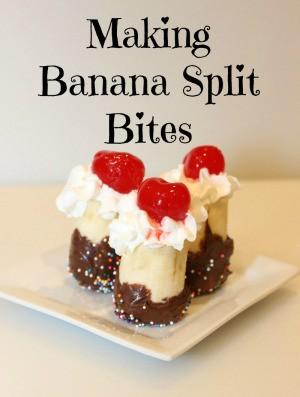 Banana Split Bites