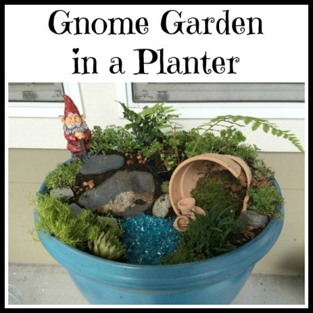 Making a Gnome Garden in a Planter