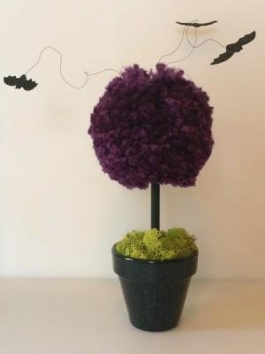 Halloween Pom Pom Topiary
