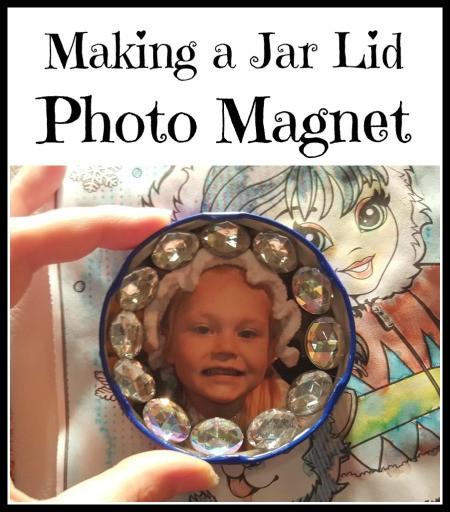 Making a Jar Lid Photo Magnet
