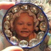 Making a Jar Lid Photo Magnet