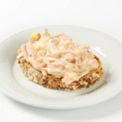 open face ham salad sandwich