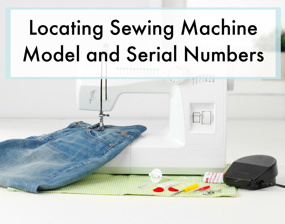 Locating Sewing Machine Model And Serial Numbers Thriftyfun