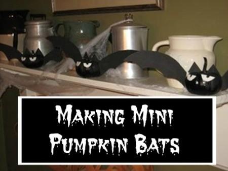 Making Mini Pumpkin Bats