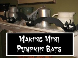 Making Mini Pumpkin Bats