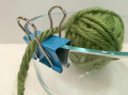 Binder Clip Yarn Bowl