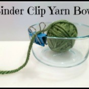Binder Clip Yarn Bowl