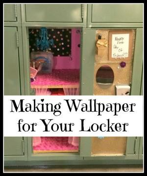 Making Wallpaper for Your Locker
